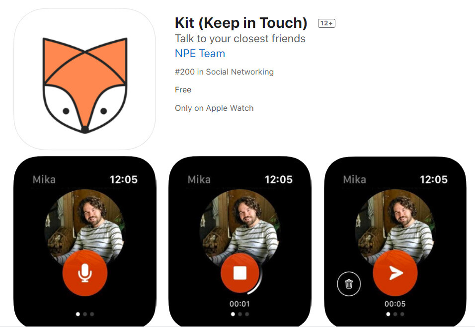Kit (Keep in Touch) Talk to your closest friends