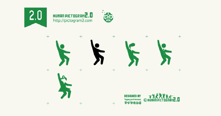Human Pictogram 2.0 擁有各種意想不到姿勢的免費人像 icon 圖庫